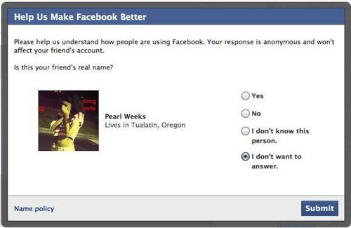 Facebook Wants You to Snitch on Your Friends Using Fake Names