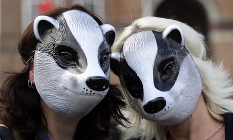 Protest against the badger cull in Bristol
