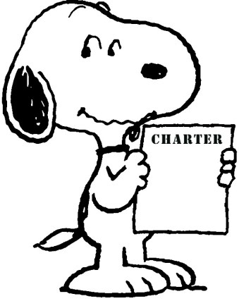 Snoopy with charter