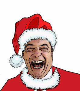 Image result for farage christmas